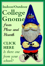 College Garden Gnome Plow-Hearth