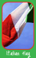 Flag flying over an Italian Herb Garden