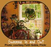 Summer Garden Calendar for houseplants