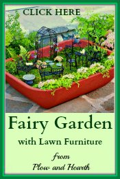 Fairy Garden with Furniture Plow-Hearth